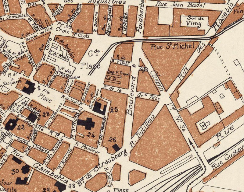 Old Map of Arras France 1924 - product image