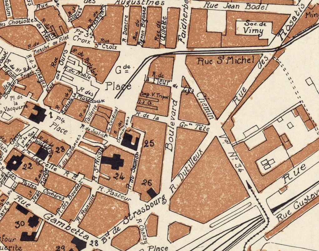 Old Map of Arras France 1924 - product images  of