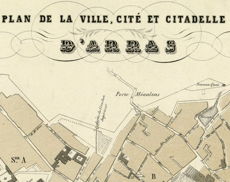 Old Map of Arras France 1894 - product image
