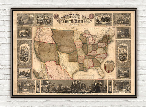 Old,Map,of,United,States,America,1849,USA,map,united states of america historical map, early map, USA poster, united states map, united states poster, united states of america, USA map, map of US, map of United states