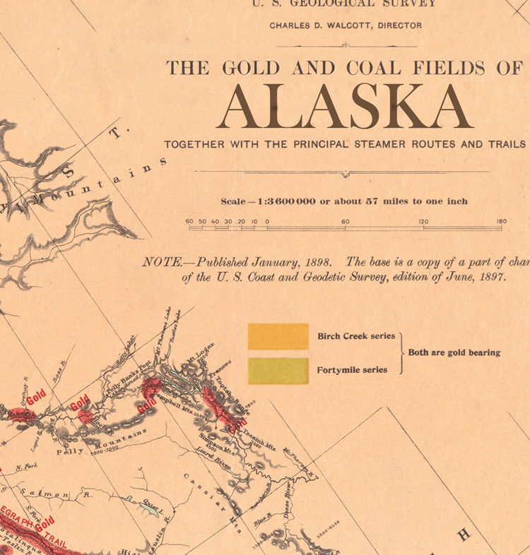 Old Map of Alaska 1898 - product images  of
