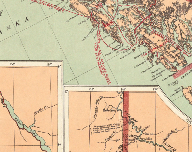 Old Map of Alaska 1898 - product image
