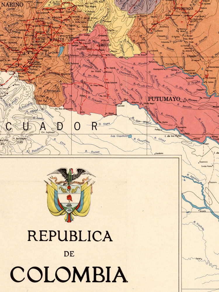 Old Map of Colombia 1972 - product images  of