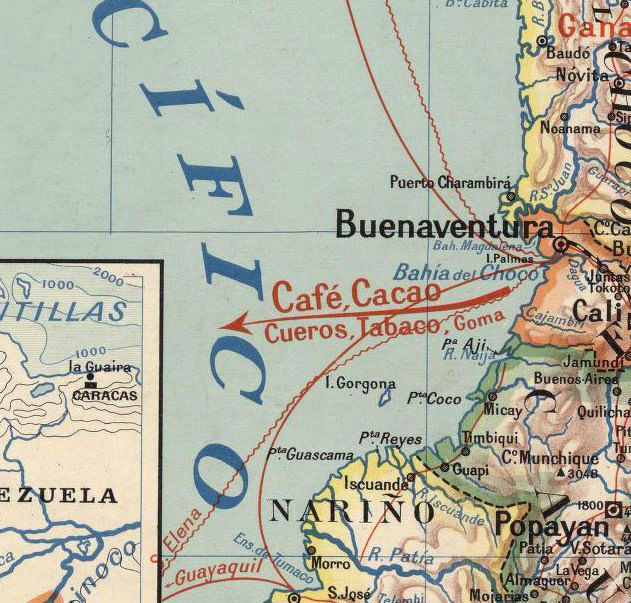 Old Map of Colombia 1920 - product image