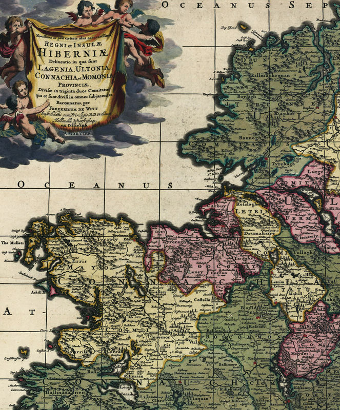 Vintage Map of Ireland 1700 - product image