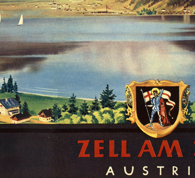 Vintage Poster of Austria Zell Am See Travel Poster - product images  of