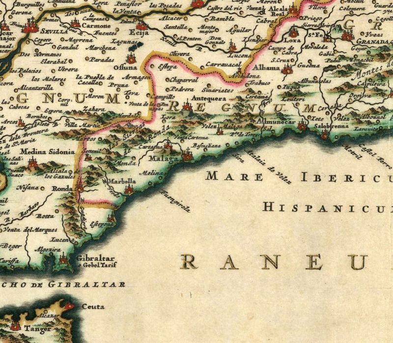 Old Map of Spain 1640 - product image