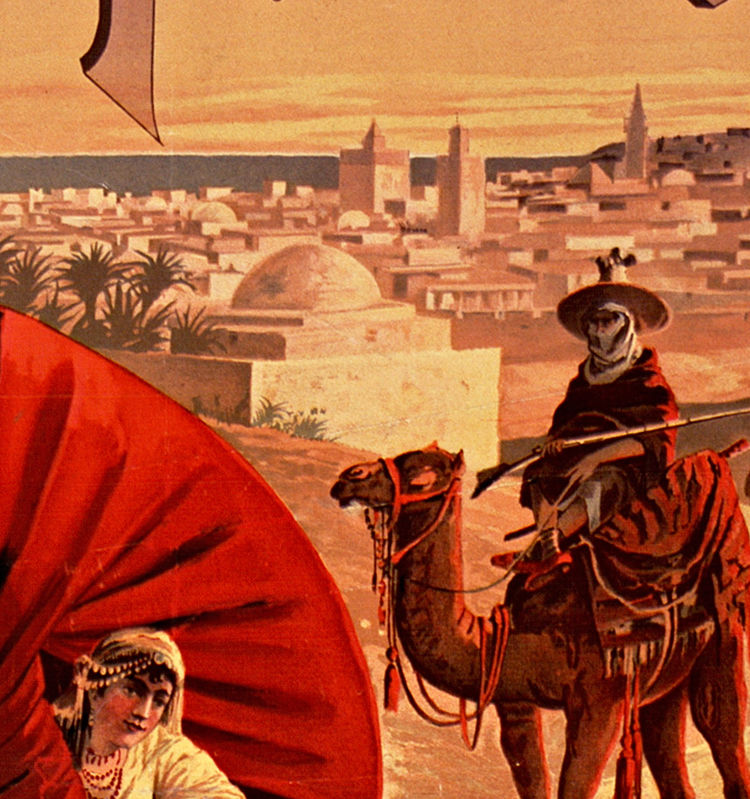 Vintage Poster of Tunisie Tunisia  1891 Tourism poster travel - product images  of