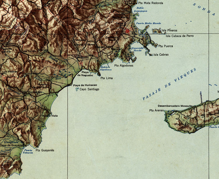 Old Map of Puerto Rico and adjacent islands - product images  of