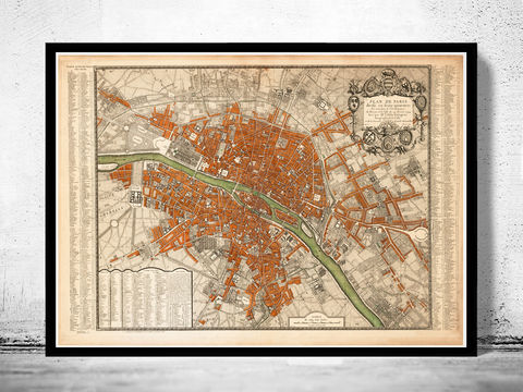 Old,Map,of,Paris,,France,1744,paris, old map of paris, paris poster, oaris retro, vintage paris,Art,Reproduction,Illustration,france,vintage_map,old_map_of_paris,paris_map,map_of_paris,paris_poster,antique_paris,vintage_paris,paris_retro,old_paris,paris_plan,paris_decor
