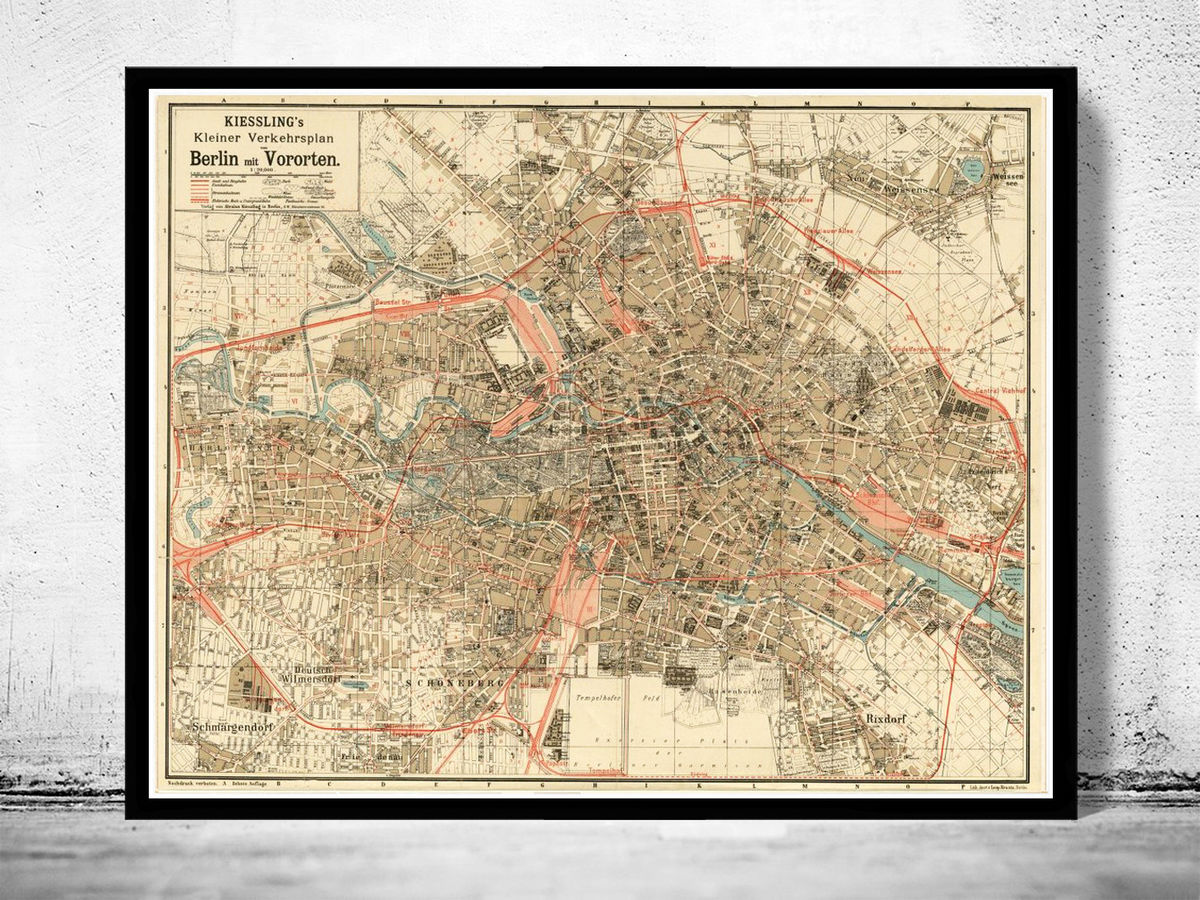 Old Map of Berlin, Germany 1904 Antique Vintage - product images  of