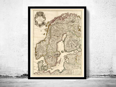 Old,Map,of,Sweden,and,Norway,1706,sweden, sweden map, vintage sweden, swedish art, Art,Reproduction,Open_Edition,vintage,old_map,antique,illustration,norway,scandinavia,sweden_map,norway_map,scandinavia_map,sweden_art,norwegian,stockholm