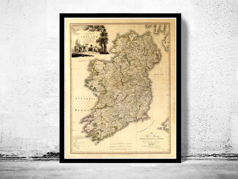 Old,Map,of,Ireland,1797,Beautiful,old,map,Art,Reproduction,Open_Edition,United_Kingdom,old_map,map_of_ireland,ireland_map,medieval,irish,ireland_poster,vintage_map,antique_ireland_map,vintage_ireland,dublin,ireland_retro