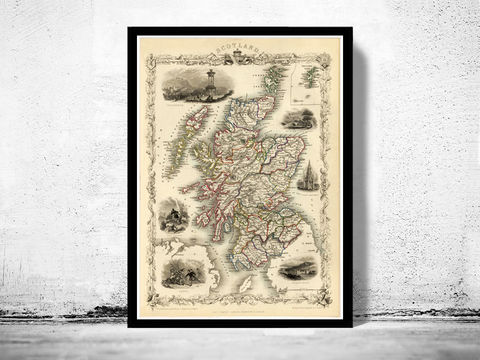 Old,Map,of,Scotland,1851,Vintage,Look,North,britain,Art,Reproduction,Open_Edition,old_map,atlas,map_of_scotland,scotland_map,edinburgh,vintage_map_scotland,antique_map_scotland,retro,antique_map,vintage_map,scotish,decor
