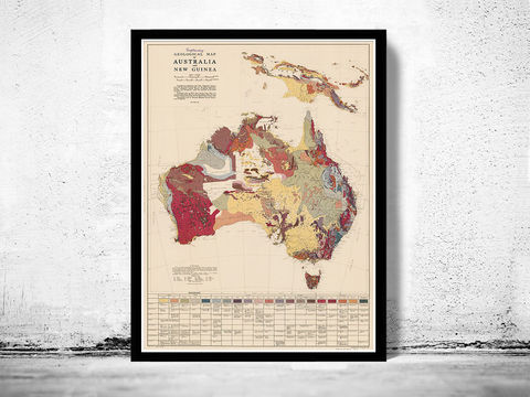 Old,Map,Australia,New,Guinea,Geological,Vintage,Art,Reproduction,Open_Edition,old_map,atlas,oceania,australia_map,map_of_australia,oceania_map,australia_vintage,australia_poster,tasmania,new_guinea,geological_map,new_guinea_map