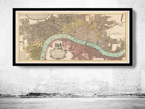 Old,London,Map,1736,,England,United,Kingdom,victorian london, london maps sale, map reproduction, old maps for sale, london map, map of london, london poster, Art,Reproduction,Open_Edition,city,vintage,illustration,gravure,vintage_map,city_plan,england,united_kingdom,london,old_map,engraving