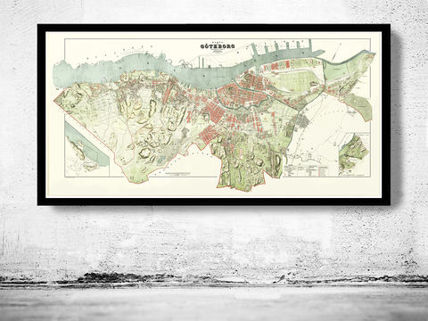 Old,Vintage,Map,of,Gothenburg,Goteborg,Sweden,1888,Art,Reproduction,Open_Edition,sweden,scandinavia,antique_map,gothenburg_map,old_gothenburg,gothenburg_poster,gothenburg_vintage,retro_gothenburg,sweden_map