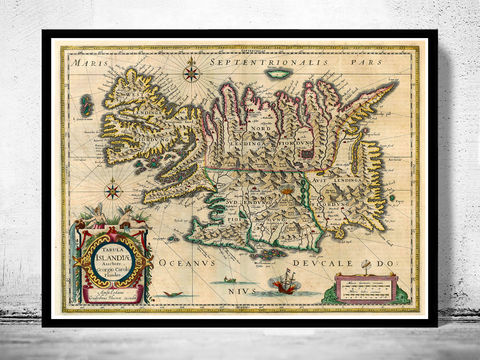 Old,Map,of,Iceland,islandia,1662,Antique,map,Art,Reproduction,Open_Edition,old_map,antique,illustration,vintage_map,iceland,island,iceland_map,map_of_iceland,iceland_poster,vintage_poster,vintage_iceland,sea_monsters