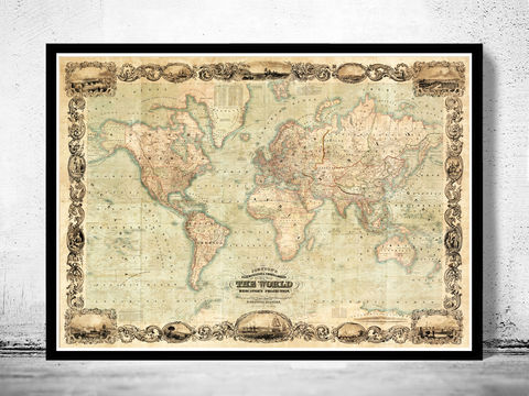 Wonderful,Old,World,Map,1847,Mercator,projection,old map of the world, world maps for sale, Art,Reproduction,Open_Edition,World_map,old_map,antique,atlas,discoveries,explorations,vintage_poster,city_plan,earth_atlas,map_of_the_world,world_map_poster,old_world,vintage_world_map