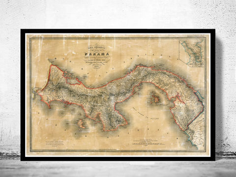 Old,Map,of,Panama,1865,Vintage,MAp,old map of panama, old map of panama, old maps for sale, maps reproductions, Art,Reproduction,Open_Edition,old_map,illustration,antique_map,historic_map,old_map_new_zealand,panama_map,map_of_panama,panama_art,antique_map_panama,panama_decor,panama_retro,p