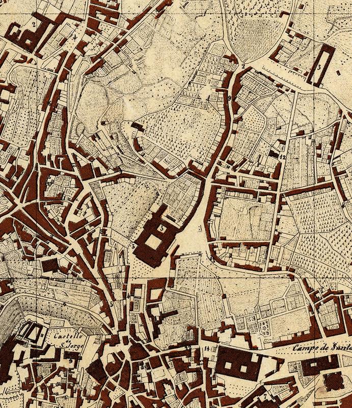 mapa antigo de lisboa Old Map of Lisbon Lisboa Portugal mapa antigo 1871   OLD MAPS AND  mapa antigo de lisboa