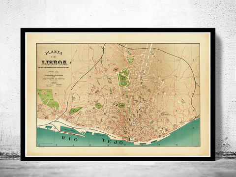Old,Map,of,Lisbon,Lisboa,Portugal,mapa,antigo,1890,maps for sale, buy map, lisbon map, map of lisbon, lisbon portugal, lisboa poster, lisbon poster, vintage map, antique map, mapa antigo
