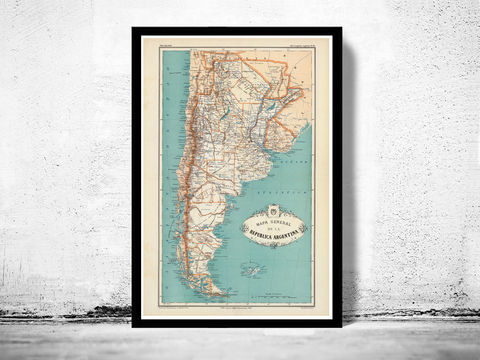 Old,Map,Argentina,South,America,Antique,map,1888,Art,Reproduction,Open_Edition,old_map,South_America,argentina,map_of_argentina,argentina_map,argentina_poster,vintage_map,antique_map,republica_argentina