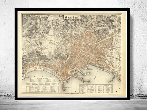 Old,Map,of,Napoli,Naples,1880,Vintage,Art,Reproduction,Open_Edition,city_map,retro,antique,Europe,italy,italia,napoli,neapel,old_map,city_plan,vintage_poster,vintage_map,napli, napoli map, map of napoli, napoli italy