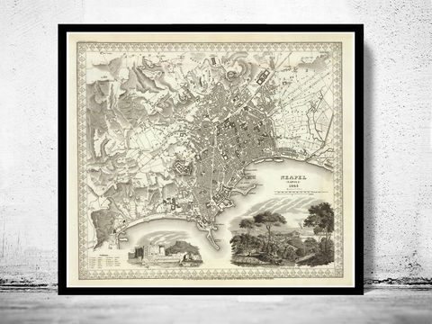 Old,Map,of,Napoli,Naples,1845,Vintage,Art,Reproduction,Open_Edition,city_map,retro,antique,Europe,italy,italia,napoli,neapel,old_map,city_plan,vintage_poster,vintage_map,napli