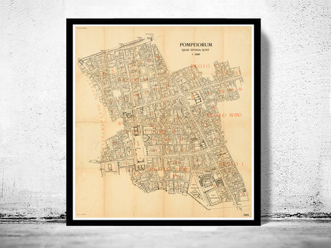 Old,Map,of,Pompeii,1909,Naples,Vintage,pompei,Art,Reproduction,Open_Edition,city_map,retro,antique,Europe,italy,italia,napoli,neapel,old_map,city_plan,vintage_poster,vintage_map,napli, napoli map, map of napoli, napoli italy, pompeii, pompeii italy, map of pompeii, old map of pompeii, pompeii