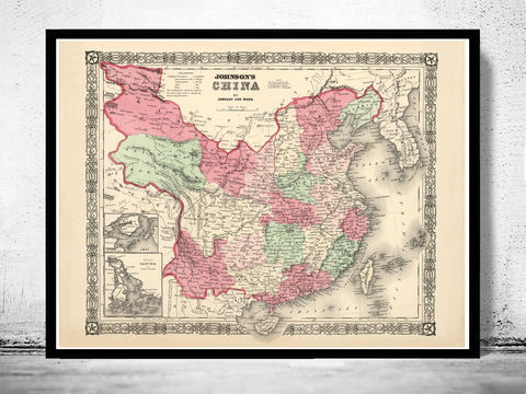Old,Map,of,China,1865,Asia,Antique,map,china poster,Reproduction,Open_Edition,plan,map_of_china,china,asia,china_map,beijing_map,old_map_of_china,china_kingdom,vintage_map_china,asia_map,peking,vintage_map,china_poster, china, china map, map of china