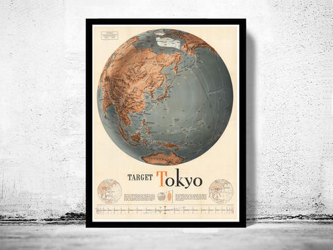Vintage,target,Tokyo,Japan,war,map,poster,1943,Tokyo map, Tokyo world war, Tokyo wwII, Japan WWII, Art,Reproduction,Open_Edition,vintage_poster,travel_poster,wall_decor,advertise_poster,oldcityprints,recruitment,world_war_poster,WWII,london,war_poster,american_war,war_propaganda,retro_war_poster