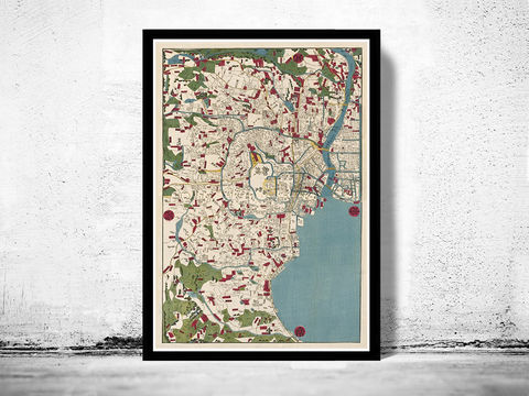 Vintage,Map,of,Tokyo,Japan,1854,Art,Reproduction,Open_Edition,tokyo_map,old_map,japan,old_tokyo_map,tokyo,tokyo_vintage_poster,tokyo_vintage,tokio,japan_vintage,map_of_tokyo,japan_map