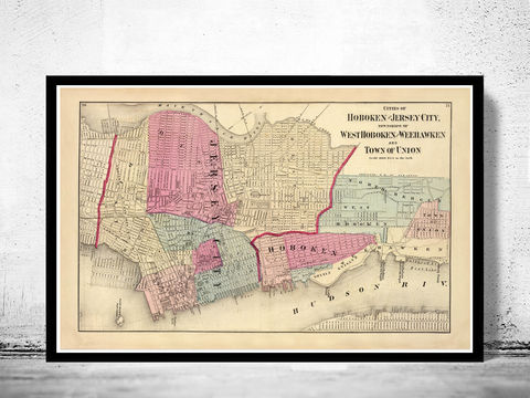 Old,Map,of,Jersey,City,and,Hoboken,,,Hudson,County,1872,Art,Reproduction,Open_Edition,United_States,city_map,retro,antique,old_map,vintage_map,jersey_city,jersey_map,jersey_hoboken,hoboken,hudson_county,jersey_maps,map_of_jersey