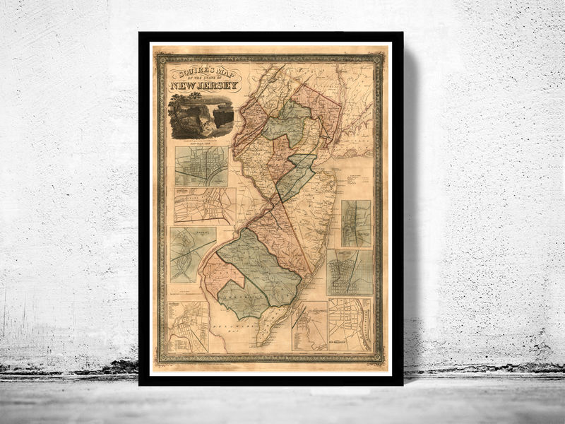 Old Map of New Jersey State 1836 - product image