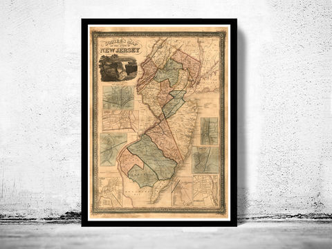 Old,Map,of,New,Jersey,State,1836,Art,Reproduction,Open_Edition,United_States,city_map,retro,antique,old_map,vintage_map,jersey_city,jersey_map,jersey_hoboken,hoboken,hudson_county,jersey_maps,map_of_jersey, trenton, rahway, newark, paterson jersey city, elizabethtown, new brunswick, map