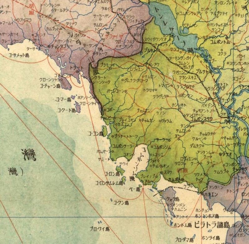 Old Map of Thailand, Old Siam  - product image
