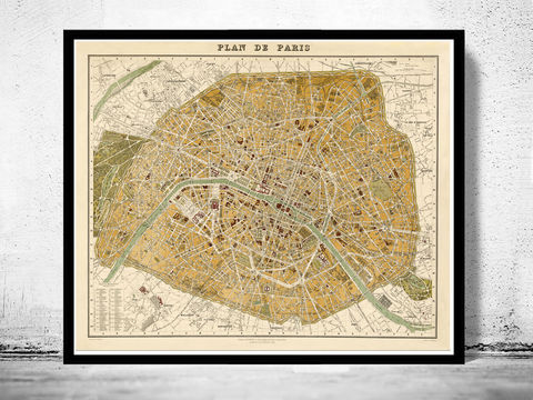 Old,Map,of,Paris,1889,France,Vintage,Plan,Art,Reproduction,Illustration,paris,france,vintage_map,old_map_of_paris,paris_map,map_of_paris,paris_poster,antique_paris,vintage_paris,paris_retro,old_paris,paris_plan,paris_decor