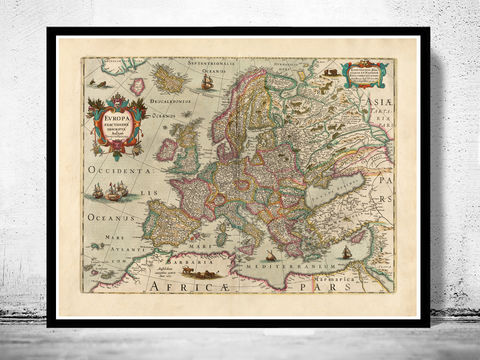 Old,Europe,Map,Antique,Atlas,1638,Vintage,map of europe, europe, europe map, old map, vintage map, antique map