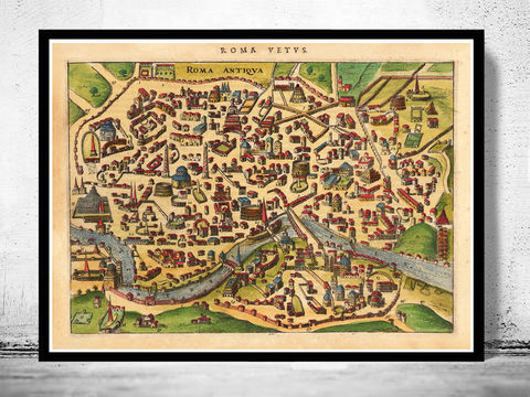 Old,Map,of,Rome,Roma,,Italy,1627,Antique,Vintage,rome antique , Art,Reproduction,Open_Edition,rome,roma,italy,vintage_map,city_plan,old_map,map_of_rome,rome_map,rome_poster,rome_plan,roma_italia,antique_rome,roman