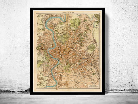 Vintage,Map,of,Rome,Roma,,Italia,1930,Antique,map,Art,Reproduction,Open_Edition,city_map,retro,antique,Europe,rome,roma,italy,italia,vintage_map,city_plan,old_map,map_of_rome,rome_map