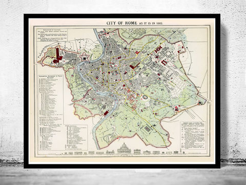 Old,Map,of,Rome,Italy,1883,Vintage,Art,Reproduction,Open_Edition,city_map,retro,antique,Europe,rome,roma,italy,italia,vintage_map,city_plan,old_map,map_of_rome,rome_map