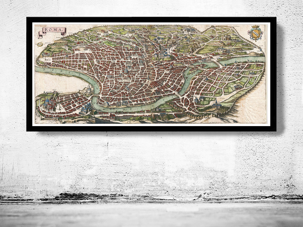 Old Map of Rome Italy 1652 Vintage Map of Rome - product images  of