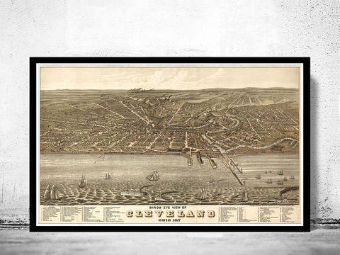 Vintage,Panoramic,of,Cleveland,,Ohio,,Aerial,view,United,States,1877,Art,Reproduction,Open_Edition,United_States,panoramic_view,vintage_map,old_map,ohio,cleveland,map_of_cleveland,cleveland_city,cleveland_poster,cleveland_birdseye,old_cleveland,cleveland_map,retro_vintage
