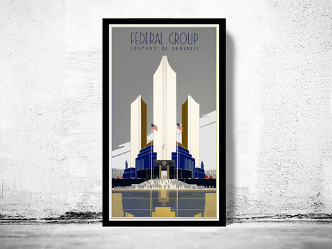 Vintage,Poster,of,Chicago,expo,poster,,1930,Federal,Group,Art,Reproduction,Open_Edition,vintage_poster,retro_poster,travel_poster,north_america_poster,america_poster,chicago,expo_century,oldcityprints,chicago_poster,chicago_retro,art_deco