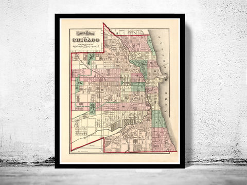 Old,vintage,map,of,Chicago,1874,Art,Reproduction,Open_Edition,United_States,retro,antique,business_district,old_map,vintage_map,vintage_poster,map_of_chicago,chicago_map,chicago_poster,chicago_vintage