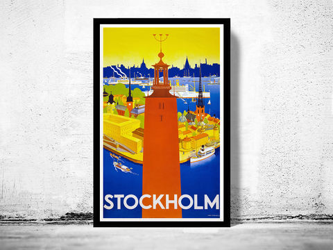 Vintage,Poster,of,Stockholm,1930,Tourism,poster,travel,Art,Reproduction,Open_Edition,vintage_poster,travel_poster,oldcityprints,stockholm,stockholm_poster,stockholm_sweden,sweden_poster,swedish_decor,stockholm_gift,stockhol_tourism