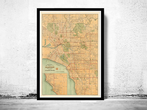 Vintage,Map,of,Melbourne,City,1913,,,Australia,Oceania,melbourne, map of melbourne, melbourne map, melbourne poster, australian poster, australia poster, old map, maps and printsr