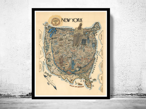 Vintage,Poster,of,New,York,Pictorial,Map,Art,Reproduction,Open_Edition,vintage_poster,travel_poster,oldcityprints,new_york,new_york_poster,new_york_tourism,new_york_gift,new_york_vintage,new_york_decor,new_york_retro