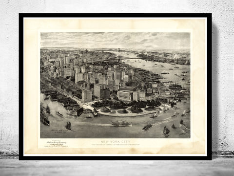 Old,Panoramic,New,York,1905,BirdsEye,View,Art,Reproduction,Open_Edition,panoramic_view,brooklyn,new_york_vintage,old_poster_new_york,new_york_poster,new_york_city_plan,new_york,old_new_york,new_york_map,new_york_panoramic,antique_new_york,new_york_decor,new_york_retro